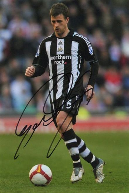 Ryan Taylor, Newcastle Utd, signed 6x4 inch photo.